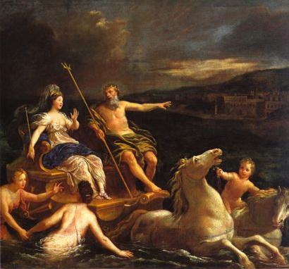 尼普東駕著海上馬車載安非特里忒前往他的宮殿Neptune amenant Amphitrite dans un char marin vers son palais_彭布隆恩 Bon Boullogne