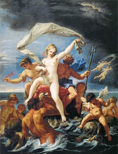 尼普東與安非特里忒Neptune and Amphitrite _ 利契RICCI, Sebastiano