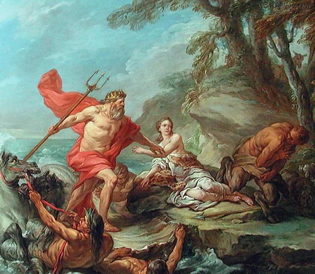尼普東和阿密摩涅Neptune and Amymone  _卡爾勒.梵魯 Carle Van Loo