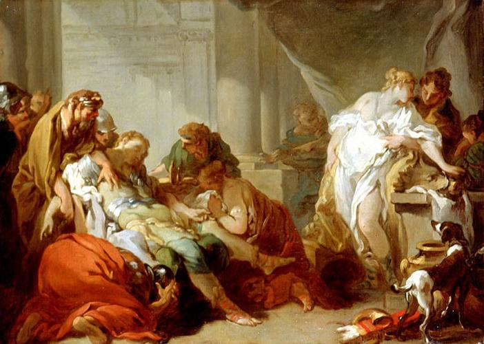梅列阿格 Death of Meleager_布雪 Francois Boucher