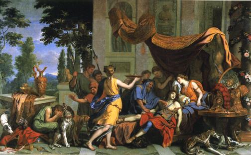 梅列阿格之死 Death of Meleager _ 勒布倫 Charles Le Brun