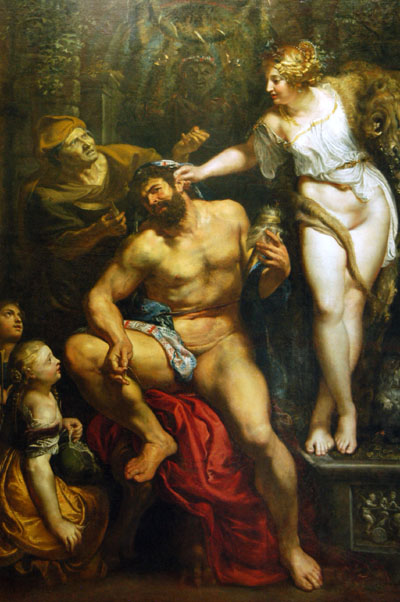 海格力斯和歐斐爾 Heracles and OmphaleHercules and Omphale_ 魯本斯 Peter Paul Rubens