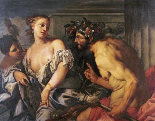 海格力斯和歐斐爾 Hercules and Omphale Poster _贊奇 Antonio Zanchi