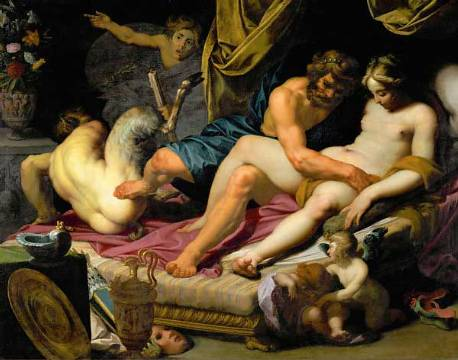 海格力斯和歐斐爾 Hercules drives away Pan from the Bed of Omphale _ 亞伯拉罕 Abraham Janssens