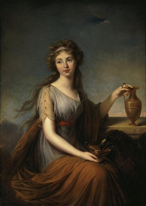 希琵 Hebe _畫勒.布倫 Vigee Le Brun Elisabeth-Louise