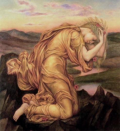 得墨忒耳哀悼倍兒西鳳Demeter Mourning Persephone _伊夫林德摩根 Evelyn de Morgan