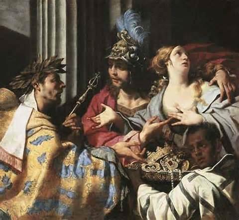 阿伽門農拒絕讓克里色斯贖回女兒 Agamemnon refusing to allow Chryses to ransom his daughter Chryseis_盧卡 • 法拉利 Luca Ferrari