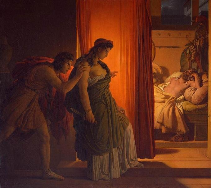 克呂泰涅斯特拉殺夫 Clytemnestra and Agamemnon _ 皮埃爾 - 納西斯Pierre-Narcisse Guérin