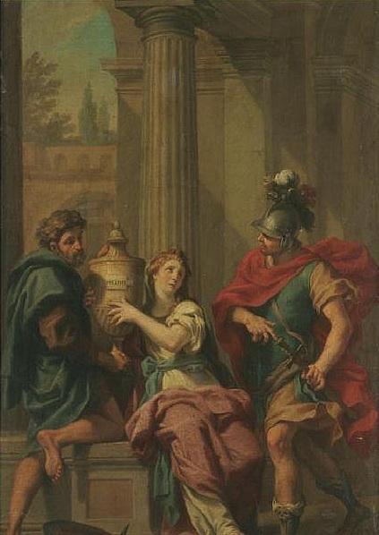 厄勒克特拉和俄瑞斯忒斯 Electra And Orestes_雅各Jacopo Alessandro Calvi