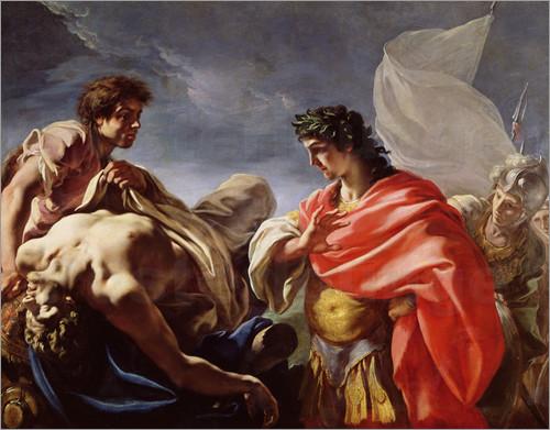 凝視著帕特羅克洛斯的身體 Achilles Contemplating the Body of Patroclus_安東尼奧·佩萊格里 Antonio Pellegrini
