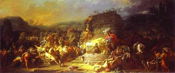 帕特羅克洛斯的葬禮 The Funeral of Patroclus _ 大衛 Jacques-Louis David