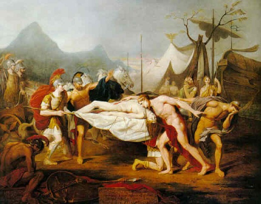 哀嘆帕特羅克洛斯死去 Achilles Lamenting the Death of Patroclus_托馬斯·道格拉斯 Thomas Douglas Guest