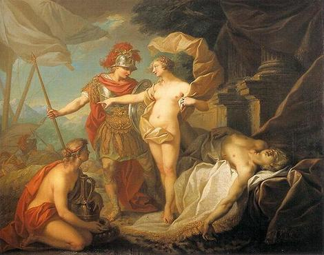為帕特羅克洛斯復仇出發 Achilles Departing to Revenge the Death of Patroclus_聖艾蒂安 Étienne Jeaurat