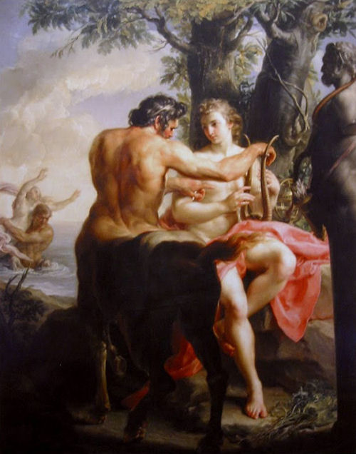 阿基里斯和凱隆Achilles and the Centaur Chiron _巴托尼 Batoni Pompeo