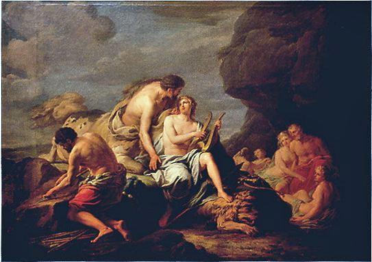 阿基里斯的音樂教育Achille instruit dans la musique par le centaure Chiron_伯納德 Lépicié, Michel Nicolas-Bernard