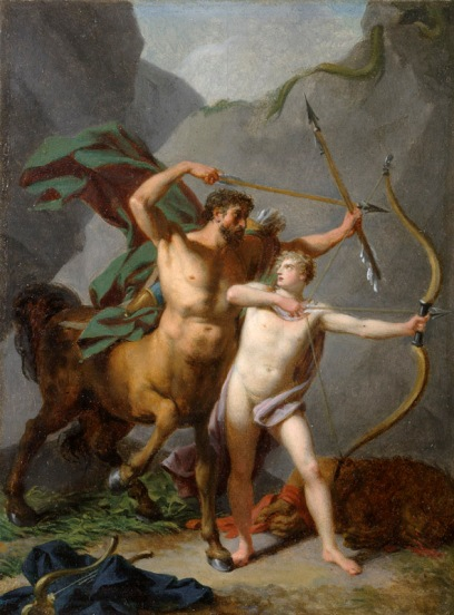 阿基里斯的教育 Chiron enseignant à Achille _ 讓·巴蒂斯特 Baron Jean-Baptiste Regnault