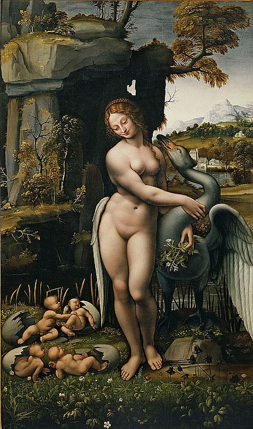 麗達與天鵝 Leda and the Swan. _達文西 Leonardo Da Vinci