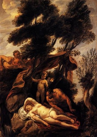 沉睡中的安蒂歐普 Sleep of Antiope - Jacob Jordaens_雅各布 • 喬登斯 Jacob Jordaens