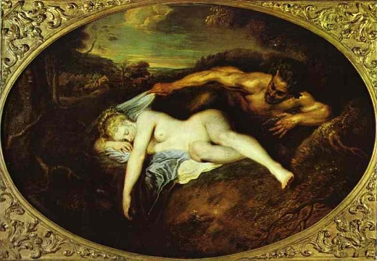 朱庇特與安蒂歐普 Jupiter and Antiope_華鐸 Jean-Antoine Watteau