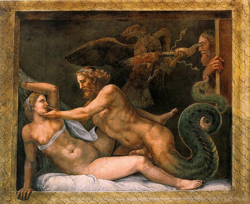 宙斯誘惑奧林匹亞絲 Jupiter and Olympias 羅曼諾 Giulio Romano