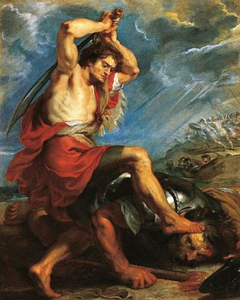 大衛殺死巨人葛利亞 David Slaying Goliath_魯本斯Rubens.jpg