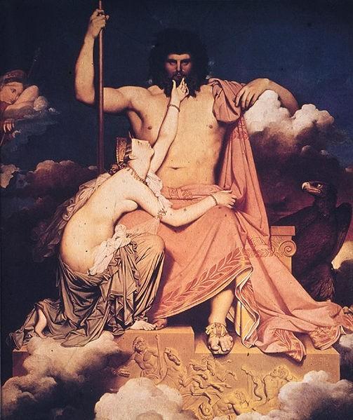 朱比特與忒提斯JupiterAndThetis_安格爾Ingres.jpg