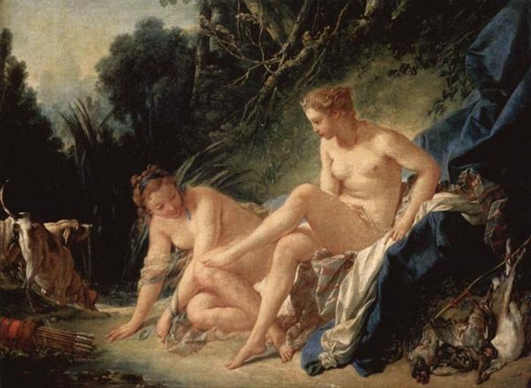 沐浴後的月神黛安娜 Diana Leaving her Bath_布雪 Francois Boucher.jpg