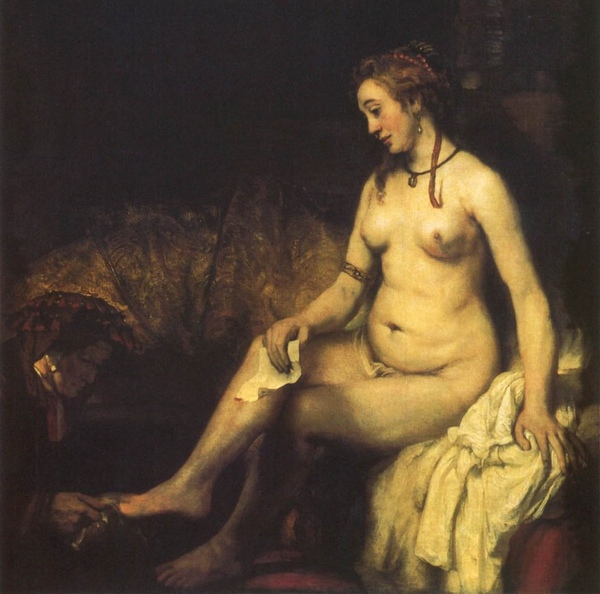 拔士巴 Bathsheba at Her Ba_林布蘭 Rembrandt van Rijn.jpg