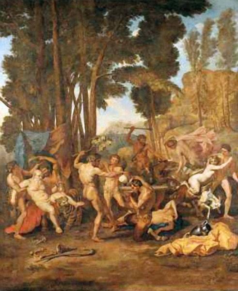 森林之神歡度酒神節慶 Bacchanalian Festival with Silenus_尼古拉.普桑 Nicolas Poussin.jpg