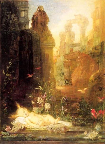 嬰兒摩西 The Infant Moses_摩洛 Gustave Moreau.jpg
