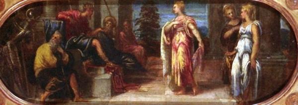 亞哈隨魯王面前的以斯帖 Esther before Ahasuerus、unknown_丁托列多 Tintoretto.jpg