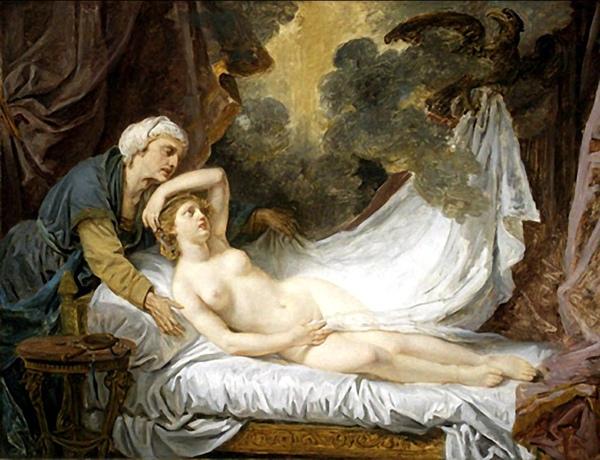 朱比特探訪愛琴娜 Aegina Visited by Jupiter_格樂茲 Jean-Baptiste Greuze.jpg