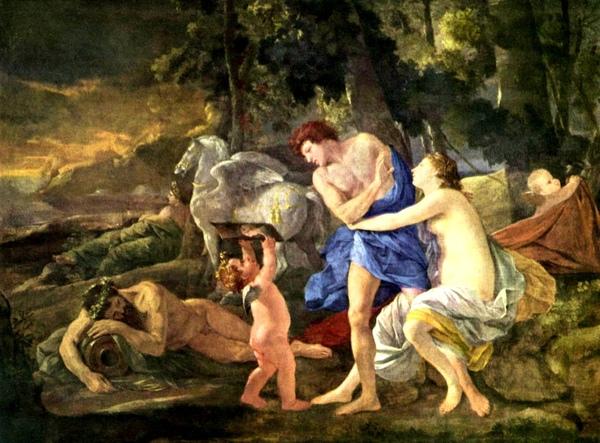 獵人賽伐勒斯和曙光之神奧羅拉 Cephalus and Aurora_尼古拉.普桑 Nicolas Poussin.jpg