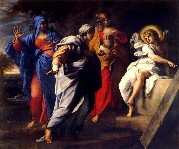 基督墓前的聖潔女 The Holy Women at Christ`s Tomb_阿尼巴爾‧卡拉契 Annibale Carracci.jpg