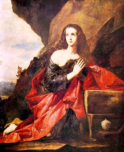 懺悔的抹大拉 The Penitent Magdalen_ 利貝拉‧荷西Ribera Jose, 1591-1652作_馬德里‧普拉多美術館.jpg