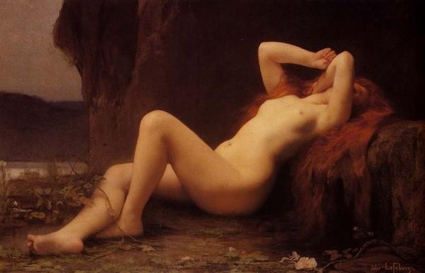 回歸大自然 Mary Magdalene In The Cave_李芙保瑞Lefebvre, Jules Joseph .jpg