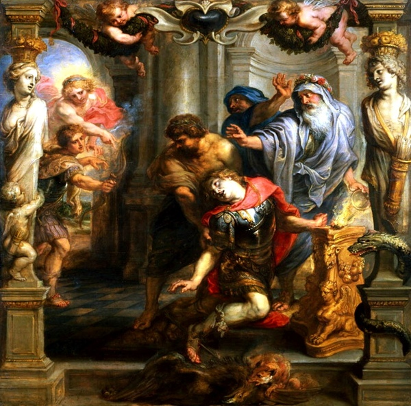 阿基里斯的死亡 The Death of Achilles_魯本斯 Peter Paul Rubens.jpg