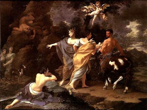 阿基里斯被放入冥河求不朽之身Achille apprendista di Chirone _多納托‧克雷帝Donato Creti .jpg