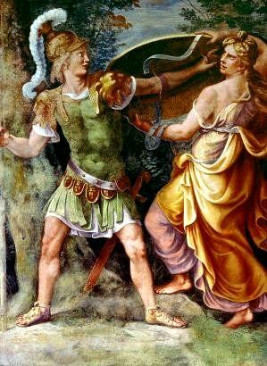 忒提斯帶武器給阿基里斯 Thetis Giving Achilles His Arms_朱利歐·羅馬諾 Giulio Romano.jpg