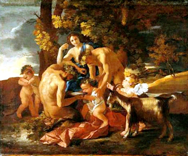 酒神的培育 The Nurture of Bacchus_尼古拉.普桑 Nicolas Poussin.jpg