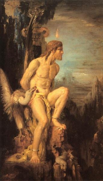 普羅米修斯的酷刑Prometheus_摩洛 Gustave Moreau.jpg