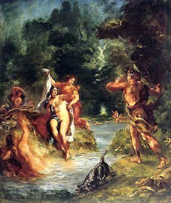 戴安娜受阿克泰翁驚嚇Diana Surprised by Actaeon_歐仁·德拉克羅瓦Eugene Ferdinand Victor Delacroix.jpg