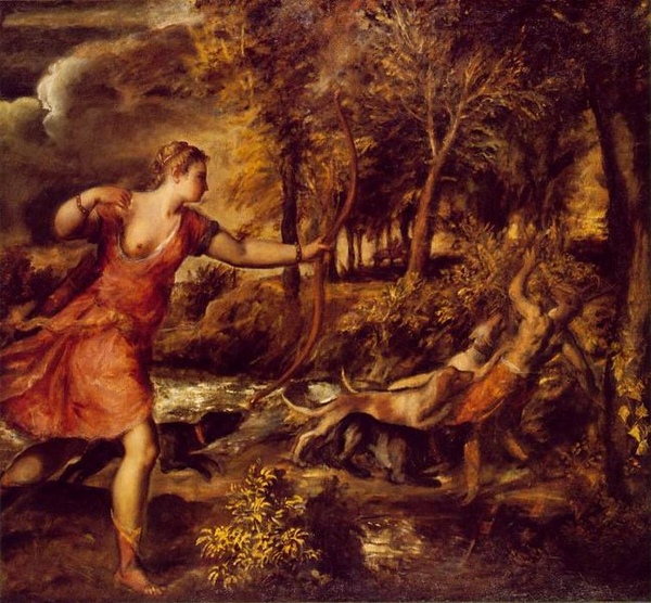 阿克泰翁之死The Death of Actaeon_提香Tiziano Vecellio.jpg