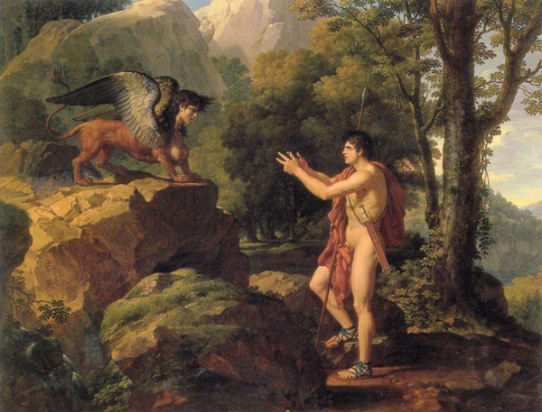 伊迪帕斯和斯芬克斯Oedipus and the Sphinx_法布爾‧弗朗索瓦‧澤維爾Francois Xavier Fabre .jpg