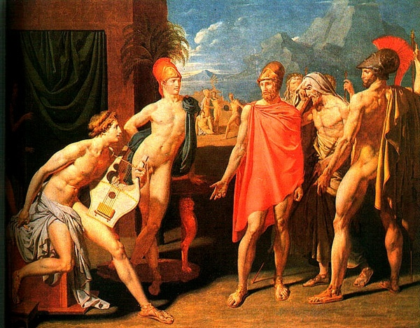 阿基里斯 接待阿伽門農使者The Ambassadors ofAgamemnon in the Tent of Achilles_安格爾Ingres.jpg
