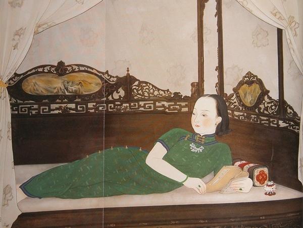 1935年的作品〈悠閒〉,是台北市立美術館鎮館之寶_陳進.jpg