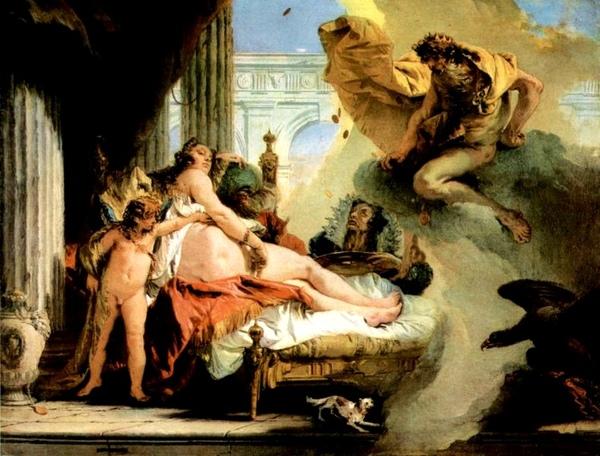 達妮與宙斯Danae und Zeus_提埃波羅Giovanni Battista Tiepolo .jpg