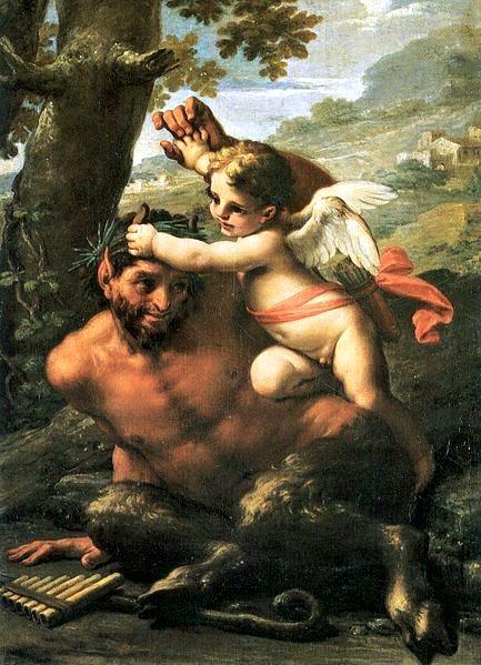 愛神與潘恩Amor und Pan_佛蘭西斯加.科曼奇尼Mancini, Francesco.jpg