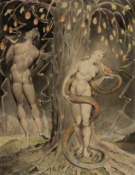 引誘和墮落的夏娃 The Temptation and Fall of Eve_布雷克 William Blake.jpg