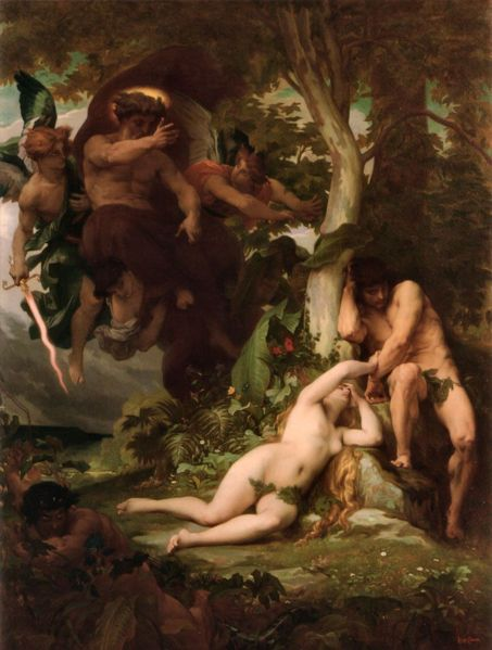 逐出樂園 The Expulsion of Adam and Eve from the Garden of Paradise _卡巴內爾‧亞歷山大Alexandre Cabanel.jpg